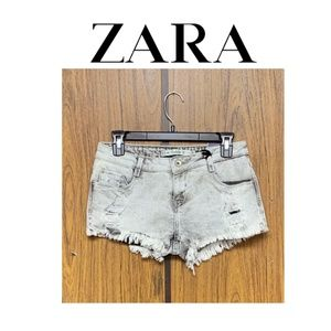 NEW with defect Zara Gray Acid Wash Cutoff Shorts
